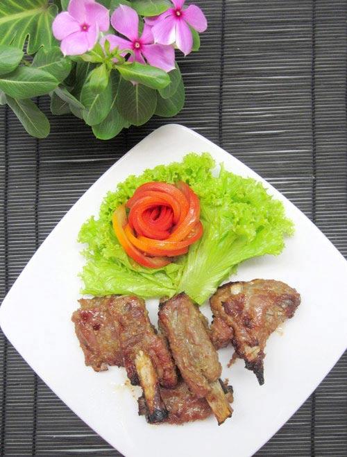 Sườn non nướng sả ớt thơm ngon ngày lạnh - 4
