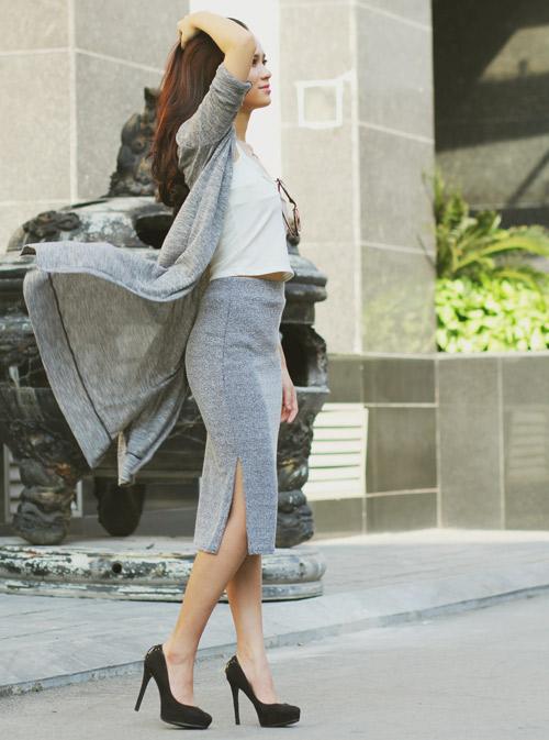 5 kiểu váy đẹp nhất cho nữ công sở quyến rũ cuối thu - 5
